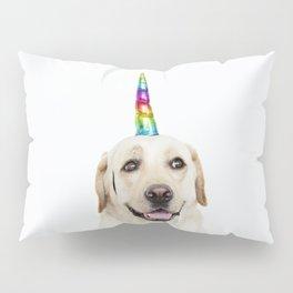 Funny Cute Unicorn Labrador Pillow Sham