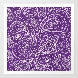 Purple Paisley Art Print