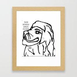 Tess Senay Art Fund Logo Framed Art Print