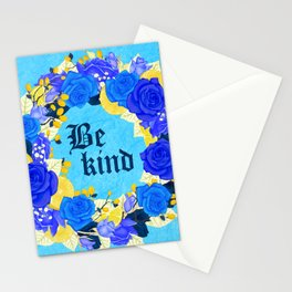 Flower wreath | Be kind Stationery Cards