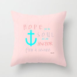 Hope for the Soul (striped) Throw Pillow