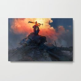 Robot Slayer Metal Print