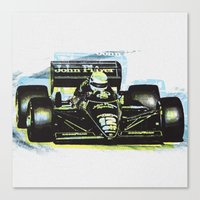 senna Canvas Prints featuring Senna III by Ricca Design Co.