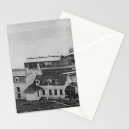 A view of the oiginal ^1 cell house and officers quarters NARA 299517 Stationery Cards