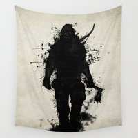hunter Wall Tapestries featuring Apocalypse Hunter by Nicklas Gustafsson