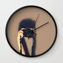 Taking pictures of you Wall Clock
