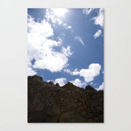 Peru: Machu Picchu Clouds Canvas Print