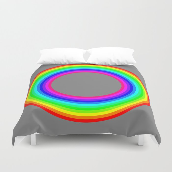 12 color rainbow donut Duvet Cover