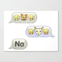 Texting CATastrophe Canvas Print