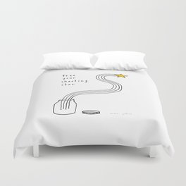 free your shooting star Duvet Cover