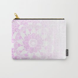 Bohemian Chic and Pretty in Pink Mandala Carry-All Pouch