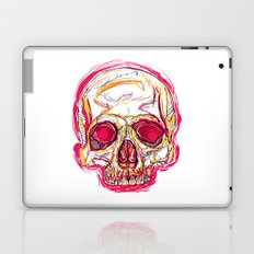 Skull abstract 01 color red Laptop & iPad Skin