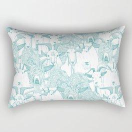 just goats teal Rectangular Pillow