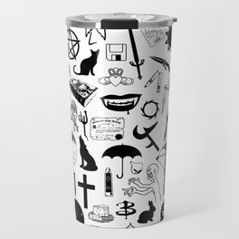 Buffy Symbology, Black Travel Mug
