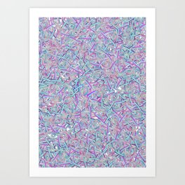 XOXO Word Randomised Art Print