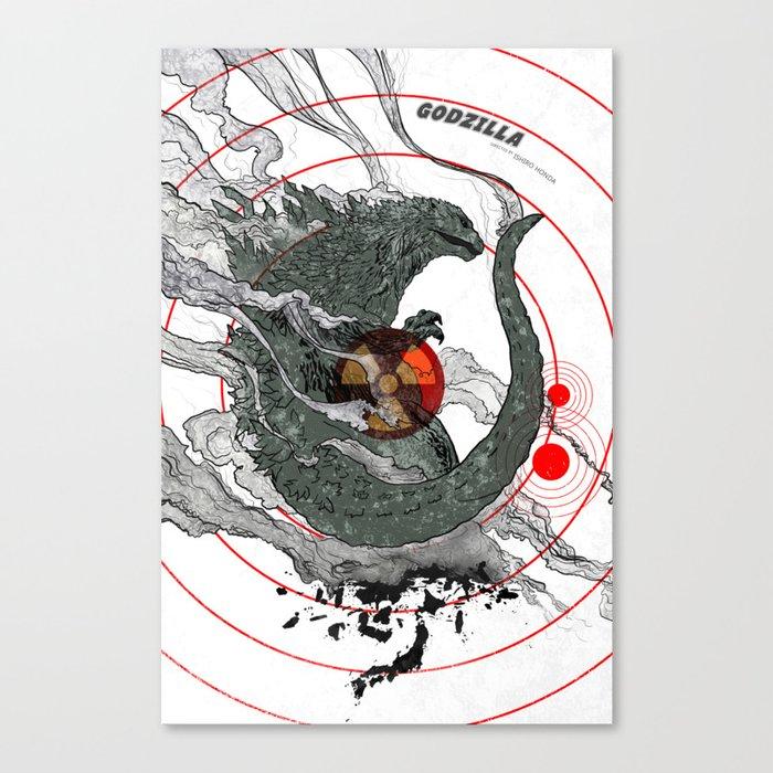 Godzilla Leinwanddruck