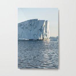 icebergs at midnight - disko bay Metal Print