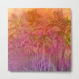 Bamboo Sunset Colors Metal Print