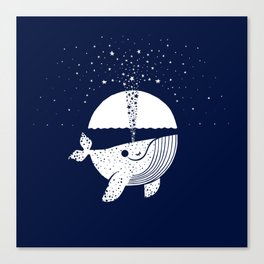 Starry Whale Canvas Print