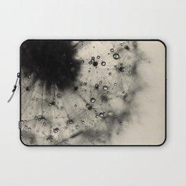 Dandelion Black Laptop Sleeve
