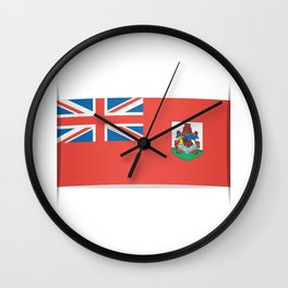 Flag of Bermuda. The slit in the paper with shadows. Wall Clock