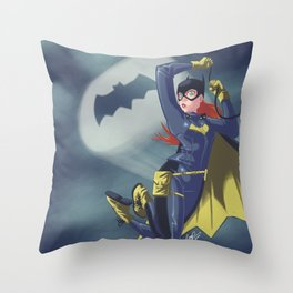 Babs in the sky Throw Pillow