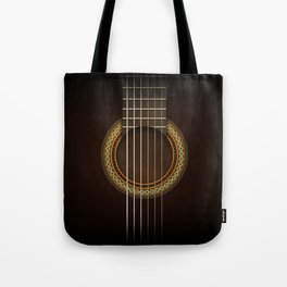 Full Guitar Black Tote Bag