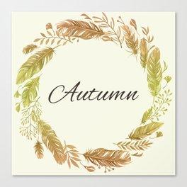 autumn greetings #decor #society6 #buyart Canvas Print