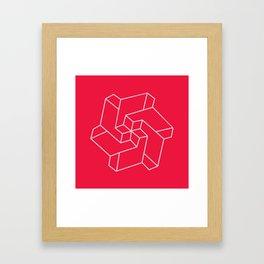Minimal /  Chakra Symbol Art / Optical Illusion Star Framed Art Print