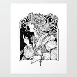 The Blue-haired Fairy Art Print