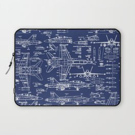 F-18 Blueprints Laptop Sleeve