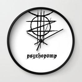 PSYCHOPOMP - White Wall Clock