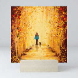 Abstract - Autumn Daze Mini Art Print