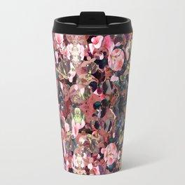 Pink Spot Floral Travel Mug