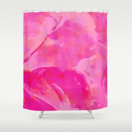 pink abstract floral pattern Shower Curtain