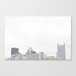 Skyline of Pittsburgh from the North Side Canvas Print