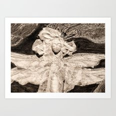 Dragonfly in Sepia Art Print