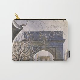 Watercolor painting of Triumphal Arch in Washington Square at dusk- New York City, New York (USA). Carry-All Pouch