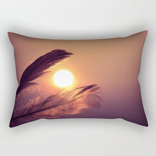 Sunset Feathers Rectangular Pillow