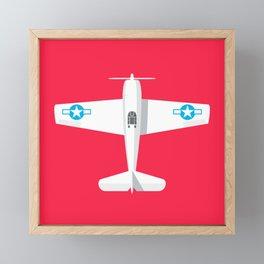 F6F Hellcat WWII Fighter Aircraft - Crimson Framed Mini Art Print