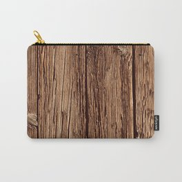Industrial Urban Reclaimed Wood Organic Planks Carry-All Pouch