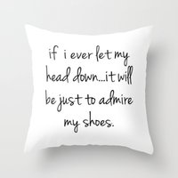 shoes Throw Pillows featuring Shoes by I Love Decor