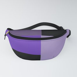 Purple Black Squares Fanny Pack