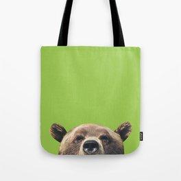 Bear - Green Tote Bag