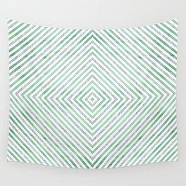 Green Rhomb Wall Tapestry