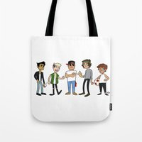 1d Tote Bags featuring 1D Animated by pygmy