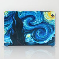 starry night iPad Cases featuring Starry Starry Night by Jade Cohen