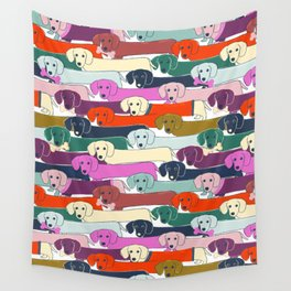 colored doggie pattern Wall Tapestry