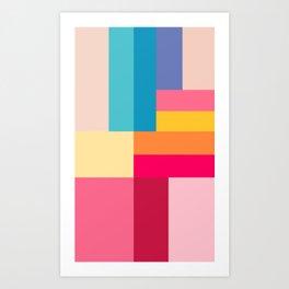 Color Stripes: Bubblegum Pink Art Print