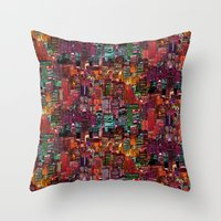cities Throw Pillows featuring Cities on Cities by Killian Hlava